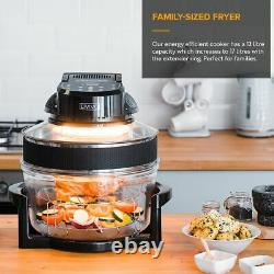 17L Halogen Digital Air Fryer Rotary Convection Oven Multi Cooker Low Fat Health