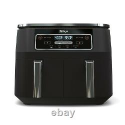 4-in-1 8-qt, 2-BASKET Air Fryer With Dual Zone Technology Dishwasher Safe NEW