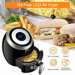 5.8QT 5.5L Air Fryer Low Fat Oil Free Kitchen Oven Timer Frying Cooker Healthy