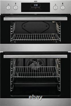 AEG DEB331010M Built in Electric Double Oven Stainless Steel HA1466
