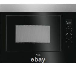AEG MBE2658SEM Built-in Solo Microwave In Black & Stainless Steel A116774
