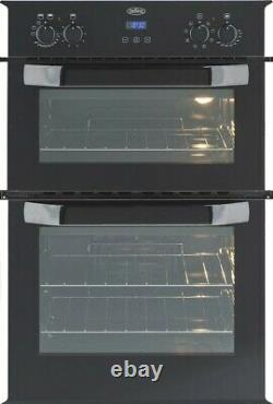Belling BI90EFR Built in Double Electric Oven in Black with White trim FA9424
