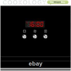Black Cookology 60cm Electric Built-in Single Fan Oven & Gas-on-Glass Hob Pack