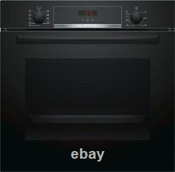 Bosch Hbs534bb0b Serie4 Multifunction Integrated Electric Oven In Black, A Rated