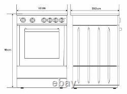 Bush B60SCBX 60cm Easy Clean Enamel Single Electric Cooker Black