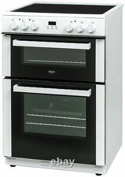 Bush BDBL60ELWX 60cm Double Oven Electric Cooker White