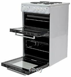 Bush BETAW50W 50cm 4 Sealed Plate Hobs Double Electric Cooker White