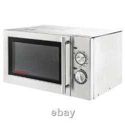 Caterlite Stainless Steel Microwave Oven with Grill 900W Commercial Light Duty