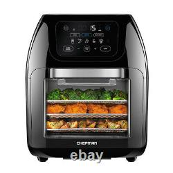 Chefman Family Sized 14 in 1 Digital LED Air Fryer and Convection Oven, Silver