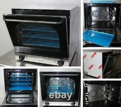 Commercial Electric Convection Oven Baking Stainless Steel with 4 Baking Trays