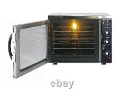 Commercial Electric Fan Convection Oven Holding Bake Off Roaster Table Top GN1/1