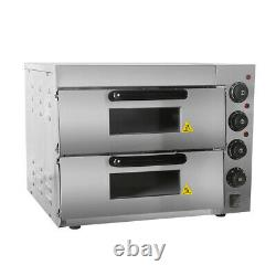 Commercial Electric Pizza Oven Double Layer Convection Oven Baker 20L 220V 3KW
