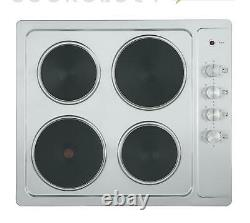 Cookology 60cm Built-in Electric Fan Oven, Hot Plate Hob & S/Steel Hood Pack