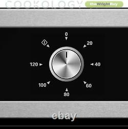 Cookology 60cm Electric Fan Oven, Touch Control Ceramic Hob & Visor Hood Pack
