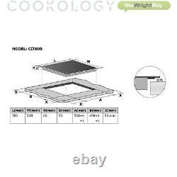 Cookology Black Electric Fan Forced Oven, Induction Hob & 60cm Cooker Hood Pack