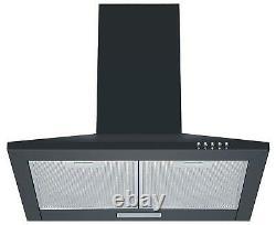 Cookology Black Single Electric Fan Oven, 60cm Induction Hob & Chimney Hood Pack