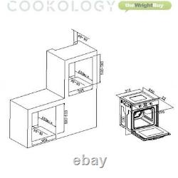 Cookology Black Single Electric Fan Oven, Touch Ceramic Hob & Visor Hood Pack