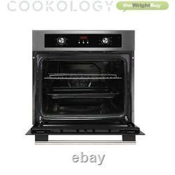 Cookology COF605SS 60cm S/Steel Built-in Single Electric Fan Oven, Digital Timer