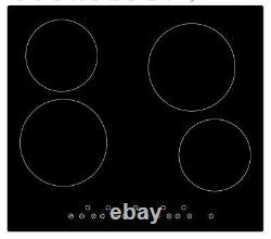 Cookology Fan Forced Oven, 60cm Touch Control Ceramic Hob & Cooker Hood Pack