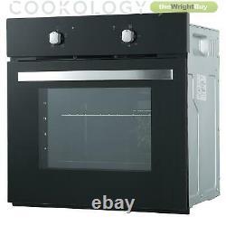Cookology SFO57BK 60cm Built-in or under Single Electric Fan Oven in Black