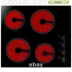 Cookology Single Electric Fan Forced Oven & 60cm Knob Control Ceramic Hob Pack