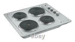 Cookology Single Electric Fan Forced Oven & Stainless Steel Solid Plate Hob Pack