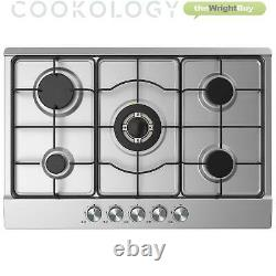 Cookology Stainless Steel 60cm Single Electric Fan Oven & 5 Burner Gas Hob Pack