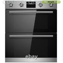Cookology Stainless Steel Built-under Double Oven & Touch Control Ceramic Hob