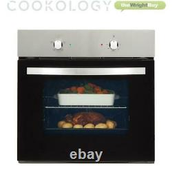Cookology Stainless Steel Fan Forced Oven, Solid Plate Hob & Cooker Hood Pack