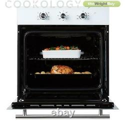 Cookology White Electric Fan Forced Oven & 60cm Touch Control Ceramic Hob Pack