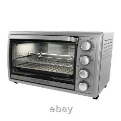 Countertop Convection Oven Rotisserie Rack Small Kitchen Electric Toaster Cooker