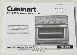 Cuisinart Convection Toaster Oven Air Fryer With Light TOA-60FR Refurbished