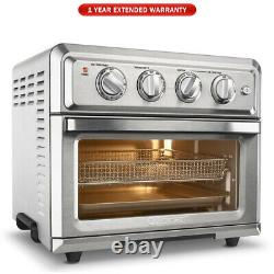 Cuisinart TOA-60 Convection Toaster Oven Air Fryer Silver + 1 Year Warranty