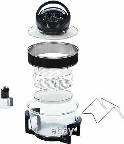 Daewoo Deluxe 17L 1300W Halogen Low Fat Air Fryer Extension Ring SDA1032 -New