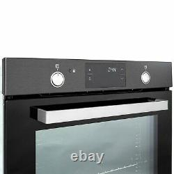 ElectriQ 78L Dark Grey Steel Pyrolytic Self-cleaning Electric Single Oven supp