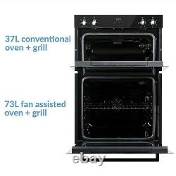 ElectriQ Electric Built In Double Oven Black