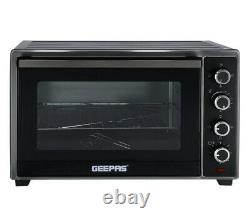 Geepas 60L Electric Oven with Rotisserie & Convection 2000W & 60 Minutes Timer