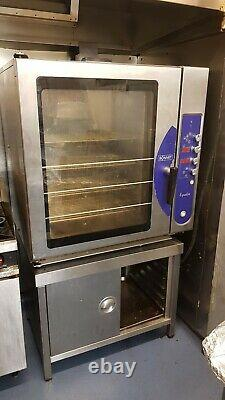 Hobart Bonnet Equator 10 Grid Combi Electric Steam Convection Oven + Stand