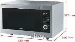 Igenix IG3095 1000W 30L Digital Microwave Oven with Grill Stainless Steel