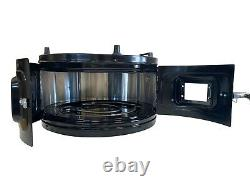 Itimat Electrical Roaster Grill Round Oven With Enamel Trays Black Single Double