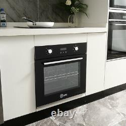 LED Display Electric Single Oven Built in 70L 6 Funcitions Clock Timer with Fan