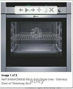 Neff Single Electric Oven. Slide & Hide Door. B45M42N0GB. Clean & Fully Working
