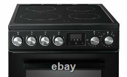 New World NWLS50TEB Free Standing 50cm 4 Hob Double Electric Cooker Black