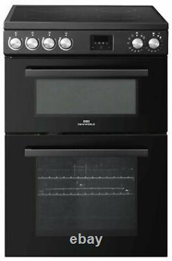 New World NWLS60DEB Free Standing 60cm 4 Hob Double Electric Cooker Black
