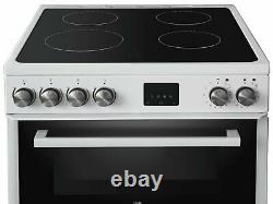 New World NWLS60DEW Free Standing 60cm 4 Hob Double Electric Cooker White