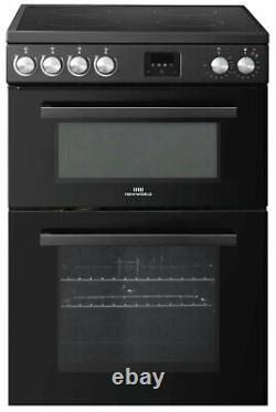 New World NWLS60TEB Free Standing 60cm 4 Hob Double Electric Cooker Black