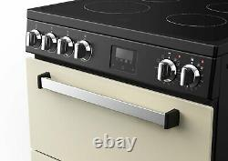 New World Nevis NWNV60CC Free Standing 60cm 4 Hob Double Electric Cooker Cream