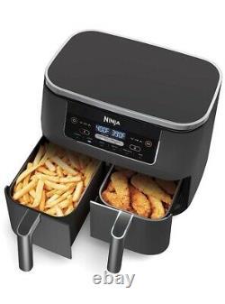 Ninja DZ100 Foodi 4-in-1 8 qt 2-Basket Air Fryer with DualZone Technology