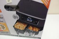 Ninja DZ201 Foodi 6-in-1 2-Basket Air Fryer DualZone Technology 8 qt (8A-OB)