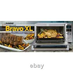 NuWave Toaster Oven/ Air Fryer 1800 W 4-Slice Stainless Steel 12-Presets Probe